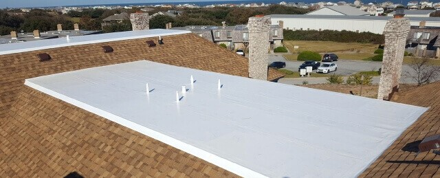 Flat commercial roof